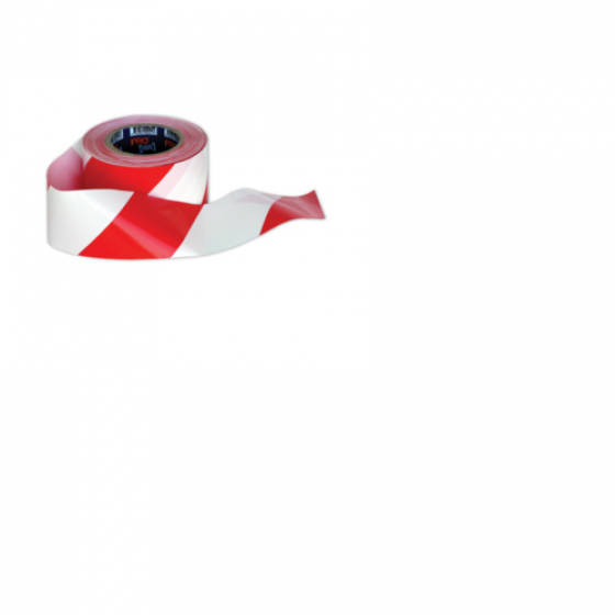 PROCHOICE Red/White Hazard Tape #RW10075