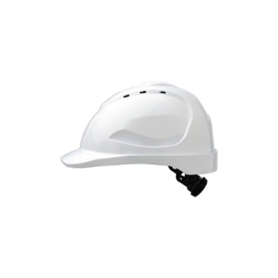PROCHOICE White Vented V9 R Helmet w Chinstrap
