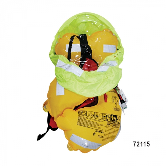 LALIZAS Lamda, 330N Auto Inflatable Lifejacket, SOLAS/MED w/crotch strap and Sprayhood