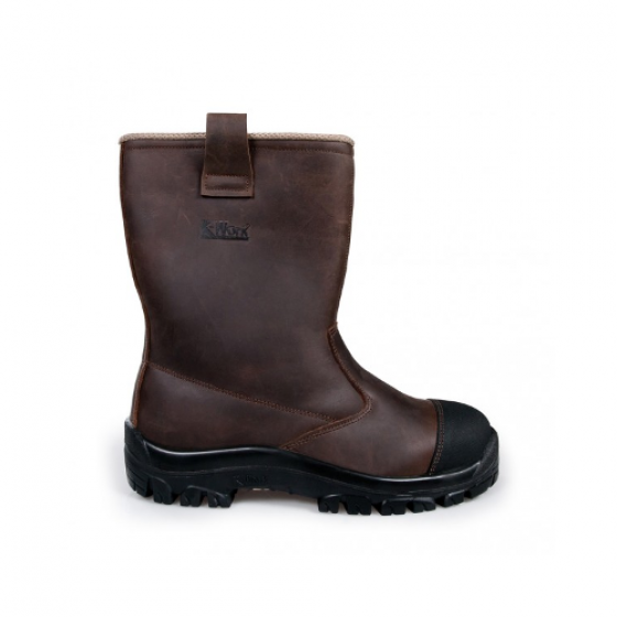 Brema Safety Boot - High Cut Pull On, Brown S3 SRC