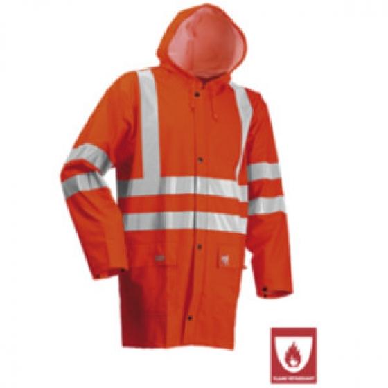 Hi Vis Flame Retardant Rain Jacket Orange